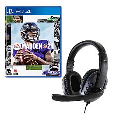 Madden 21 Game for PlayStation with Universal Headset
