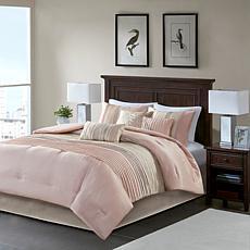 Madison Park Amherst 7-Piece Comforter Set Blush/Taupe King