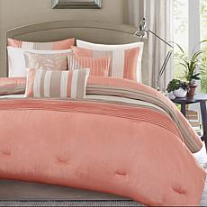 Madison Park Amherst 7-piece Coral Comforter Set - King