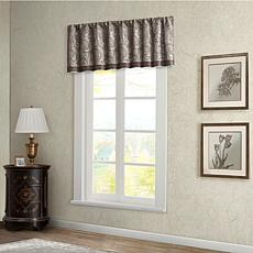 "Madison Park Aubrey Jacquard Window Valance - Blue - 50 x 18"""