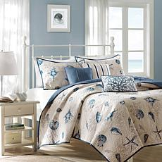 Madison Park Bayside 6-Piece Coverlet Set - King/Blue