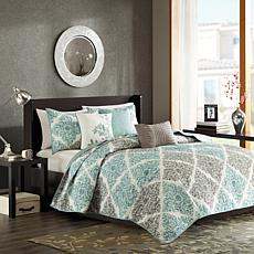 Madison Park Claire 6pc Coverlet Set King/Cal King/Aqua