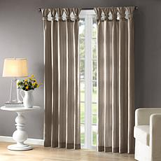 "Madison Park Emilia Curtain - Pewter - 50"" x 84"""