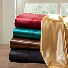Madison Park Essentials Full Gold Satin Wrinkle-Free 6pc Sheet Set