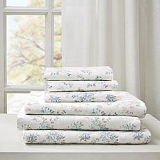 Madison Park Floral Cotton Comfort-Wash Sheet Set - Pink - Cal King