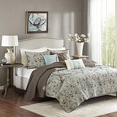 Madison Park Geneva 6-Piece Reversible Coverlet Set - Full/Queen