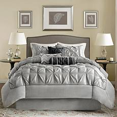 Madison Park Gray Laurel Comforter Set - King