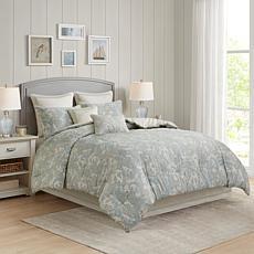 Madison Park Laurel Comforter Set California King Plum