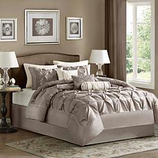 Madison Park Laurel Comforter Set California King Taupe