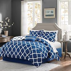 Madison Park Merritt 9pc Bedding Set - Full/Navy