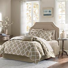 Madison Park Merritt 9pc Bedding Set - Full/Taupe