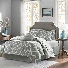 Madison Park Merritt 9pc Bedding Set - Queen/Gray