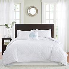 Madison Park Quebec 5pc White Comforter Set - Cal King