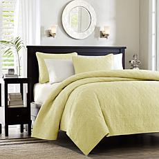 Madison Park Quebec Full/Queen Quilted Coverlet Mini Set - Yellow