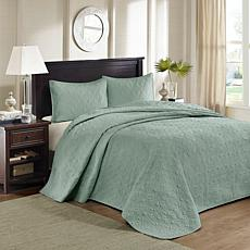 Madison Park Quebec King Quilted Bedspread Set - Seafoam