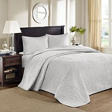 Madison Park Quebec Queen Quilted Bedspread Set - Gray