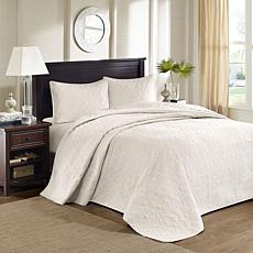Madison Park Quebec Queen Quilted Bedspread Set - Ivory