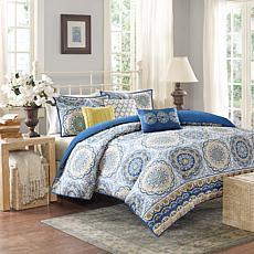 Madison Park Tangiers Queen Printed 6pc Coverlet Set