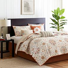 Madison Park Tissa Full/Queen Printed 6pc Coverlet Set