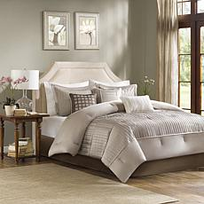 Madison Park Trinity 7-Piece Comforter Set - King/Taupe