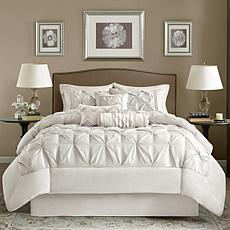 Madison Park White Laurel Comforter Set - King