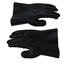 MagneChef Silicone Easy Release BBQ Gloves with Magnetic Clip