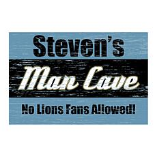 Man Cave Personalized Floor Mat - Blue
