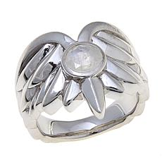 "Margo Manhattan ""Gavreel"" Angel Wing Moonstone Ring"