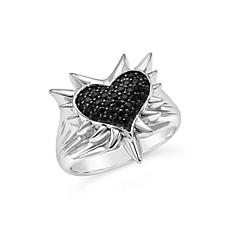Margo Manhattan Roxy Black Spinel Heart Ring