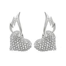 Margo Manhattan White Topaz Angel Heart Earrings