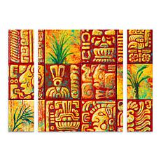 "Marion Rose ""Mayan Titles"" Multi-Panel Art - 24"" x 32"""