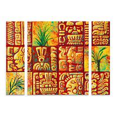 """Marion Rose """"Mayan Titles"""" Multi-Panel Art - 24"""" x 32"""""""