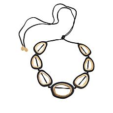 "MarlaWynne 60"" Open Design Abstract Station Necklace"
