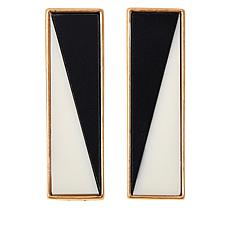 MarlaWynne Black and White Abstract Earrings