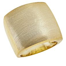 MarlaWynne Convex Brushed Metal Ring