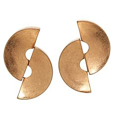 MarlaWynne Double Half Circle Stud Earrings