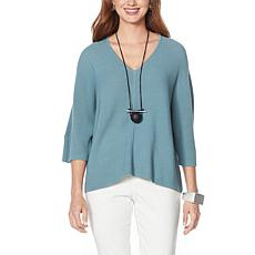 MarlaWynne Garter Stitch Sweater Knit Popover