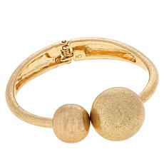 MarlaWynne Hinged Ball Bangle Bracelet