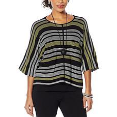 MarlaWynne Link Stitch Ottoman Popover Sweater