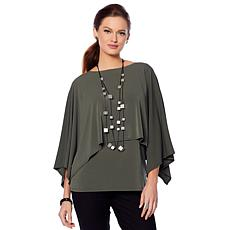 MarlaWynne Luxe Crepe Capelet Top