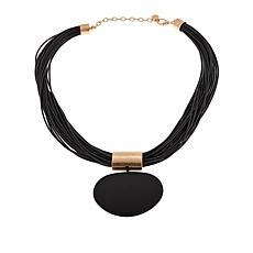 "MarlaWynne Multi-Strand Large Drop 24"" Necklace"