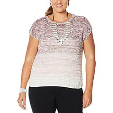 MarlaWynne Ombré Marled Knit Box Sweater