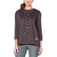 MarlaWynne Ponte Box Top with Grommets