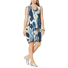 MarlaWynne Print Sleeveless Lantern Dress