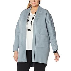 MarlaWynne Quilted SoftKNIT Topper with Pockets