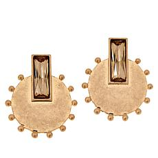 MarlaWynne Rectangular Crystal Circle Drop Earrings