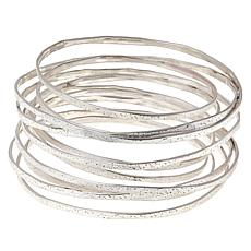 MarlaWynne Satin-Finish Infinity Bangle Bracelet