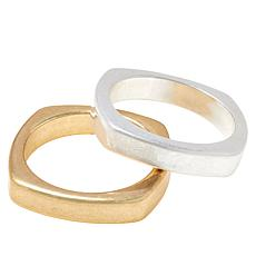 MarlaWynne Set of 2 Square Slip-On Bangle Bracelets