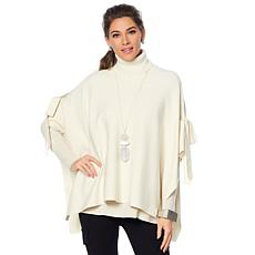 MarlaWynne Side-Tie Turtleneck Poncho
