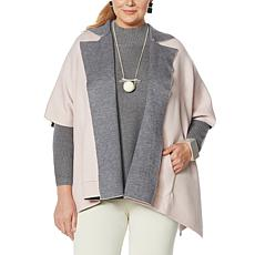 MarlaWynne SoftKNIT Poncho Jacket with Pockets